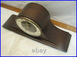 Vintage Welby Tambour Camel Back Shelf Hour Westminster Chime Clock Germany