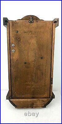 Vintage Western Germany Pendulum Key Wound Wood Clock Chimes Striking Wall Clock