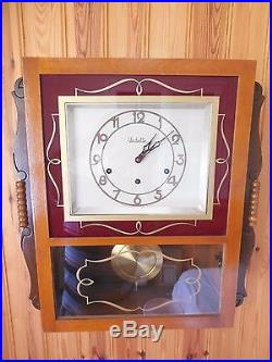 Vintage Westminster Chime Art Deco French Wall Clock VEDETTE 5 Bars, DAY/NIGH
