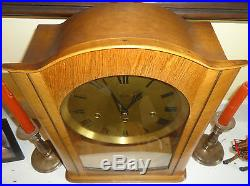 Vintage Westminster Chime Hermle German Made Tall Mantel Clock