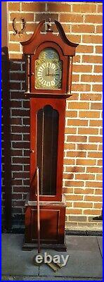 Vintage Westminster Chime Longcase Grandfather Clock for Spares or repairs
