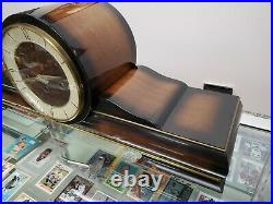 Vintage Westminster Mantle Chime Clock (340-020 Clock Movement) with Key