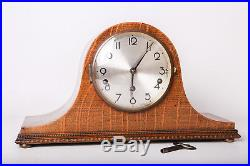 Vintage Woden Mantel Clock Westminster Chimes Fully Working With Keys