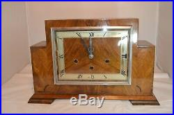 Vintage Wooden English Mantle Clock, Westminster chime, RUNNING