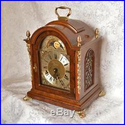 Vintage Wuba Warmink Triple Chime, Westminster Mantel Clock. Moon Phase Calendar