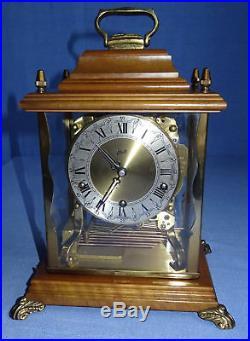 Vintage german Carillon Schatz mantel clock 3 melodies triple chime Westminster