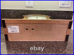 Vintage-howard Miller Oak Mantle Westminster Chime Clock West Germany 340-020