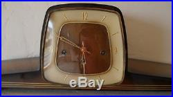 Vintage mantel shelf clock with westminster chime made in Germany