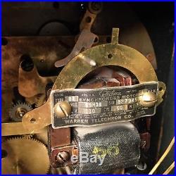 Vtg B2 Telechron Revere 59m38 Westminster Chime Mantel Motored Clock Electric
