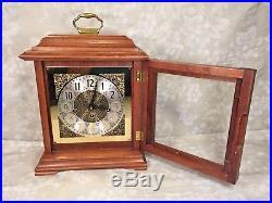 Vtg Bracket Clock F Hermle Movement Westminster Chimes Not Running