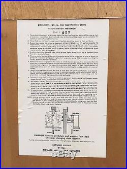 Vtg Howard Miller George Nelson Model 623 Grandfather Clock Westminster Chimes