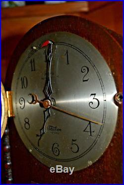 Vtg Revere Telechron Westminster Chime electric wood mantle clock Works