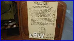 Vtg Seth Thomas Woodbury Westminster Chime Mantle Clock Germany A401 Mvt withKey