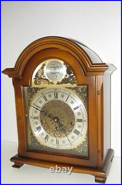 W. Haid Quarter Hour Westminster Chime Bracket Clock made in Germany 8-dayNice