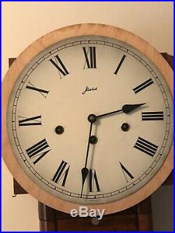 W. Haid Schoolhouse Octagon Wall Clock Germany Westminster Chimes with Key