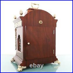 WARMINK Mantel TOP Clock XL Vintage TRIPLE CHIME Moonphase! 7 Jewels GLOSS Dutch