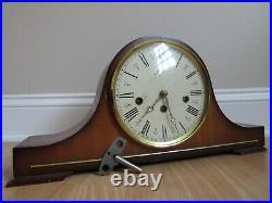 WESTMINSTER CHIMES mantel clock GERMAN key wind HAIM vintage WORKS