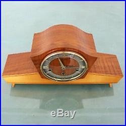 WUBA SCHATZ Clock Vintage RARE! WESTMINSTER Chime High Gloss Multi Color Germany
