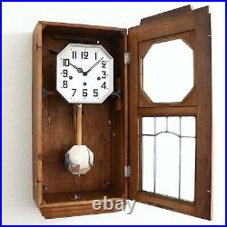 Wall TOP! Clock BELLS OF JURA Westminster Chime ANTIQUE ART DECO France RESTORED
