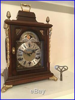 Warmink 8 day Westminster, Whittington, St. Michael, Moon phase, 8 Bars, Bracket Clock