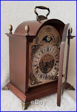 Warmink Mantel Clock Dutch Westminster Chimes Vintage Silent Mode 8 Day Key 36cm