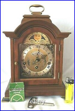 Warmink Mantel Clock Westminster Quarter Chime Moonphase 8 Day Silent Option