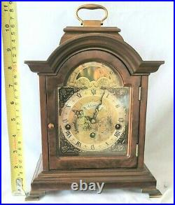 Warmink Westminster Clock 8 Day Burl Wood Moonphase Quarter Chime Silent Switch