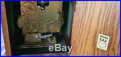 Warmink Westminster Clock Dutch 8 Day Key Wind Moon Dial, Silent Option Vintage