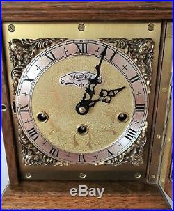 Warmink Westminster Clock Wubba Dutch 8 Day Key Wind Silent Switch Vintage