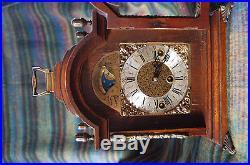 Warmink Wuba Mantel Shelf Westminster Chime Clock oak Wood MoonphaseDutch