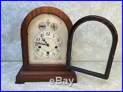 Waterbury Mahogany Chiming Mantel Clock Not Running Westminster Chimes