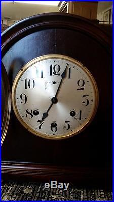 Waterbury Mahogany Westminster Chime Mantel Clock