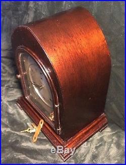 Waterbury No. 335 Westminster Chime Bracket Mantle Clock Works Well NICE