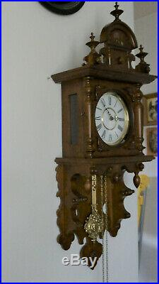 Weight Driven 8 Day Westminster Chime Wall Clock With German Kieninger Movement