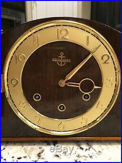 West Germany Westminster Chime Art Deco Mantle Clock Works