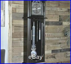 Westminster Chime 6' Tall Espresso Grandfather Clock Nickel Swinging Pendulum