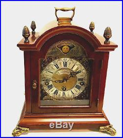 Westminster Chime Mantel Clock with Moon Dial