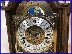 Westminster Chime Moon Phase Dial Key Wound Mantel Clock