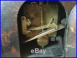 Westminster Chiming Mantle Clock British Anvil Beautiful 1930's Art Deco