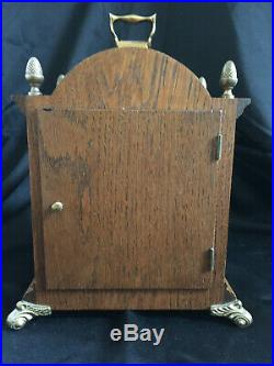 Westminster Chiming Warmink WUBA Dutch Bracket Shelf Clock with Moon Phase in Oak