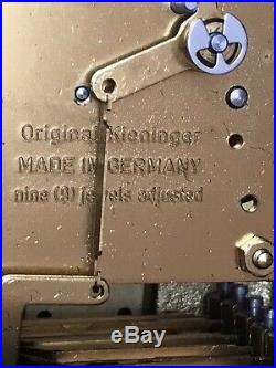 Westminster KIENINGER For Ethan Allen Mantle Clock 9 Jewels 8 Chime Rods Runs