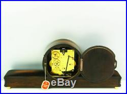 Westminster Later Art Deco Junghans Chiming Mantel Clock With Balance Wheel