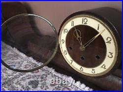 Westminster Quarter Hour Westminster Chime Mantle Clock Big 8-day Rare