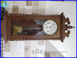 Westminster chime, german, 8 day wall clock, mechanical, good order, moved house