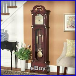 Wood Antique 72 Grandfather Clock Floor Standing Vintage Chime Traditional Big