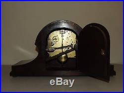 Working 1930's English Perivale Westminster Chime Mantle Clock with MOP Inlay