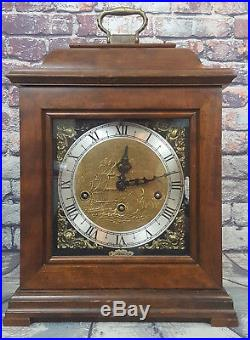 Wuersch Clock Vintage Mantel Clock Franz Hermle Germany Chime Westminster