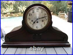XL Antique Junghans Large Tambour Mantle Clock withWestminster Chime